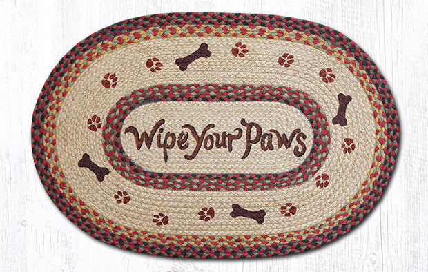 Capitol Earth Rugs Wipe Your Paws Oval Patch Rug