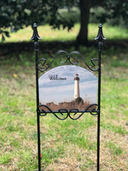 Cape May Lighthouse Welcome Garden Sign