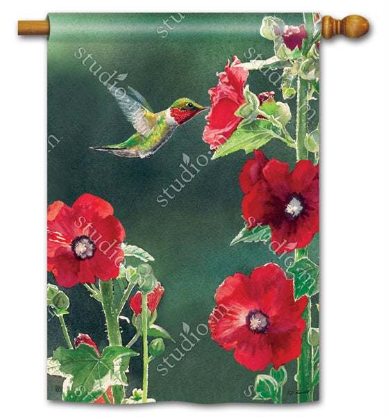 Hummingbird Delight Standard Flag