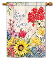Bloom with Grace Standard Flag