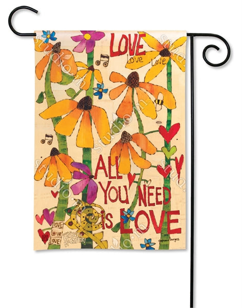 Studio-M All You Need is Love Garden Flag, The Lyric Project