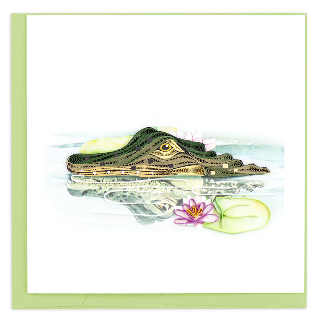 Alligator Quilling Card