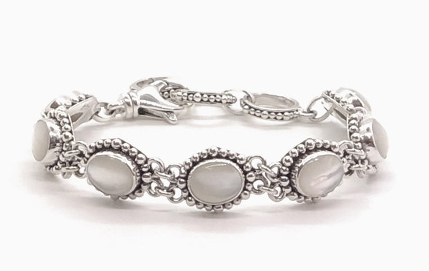 Indiri Collection PADMA Mother of Pearl Station Bracelet