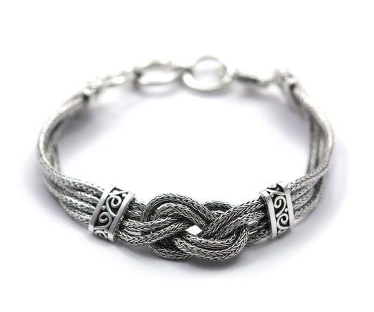 Indiri Collection DEWI Infinity Knot Wheat Chain Bracelet