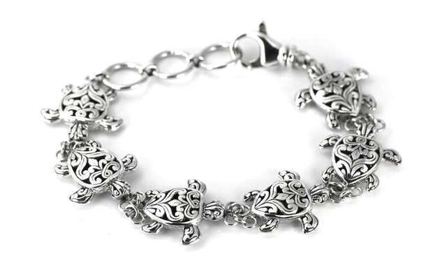 Indiri Collection WEDA Filigree Sea Turtle Station Bracelet