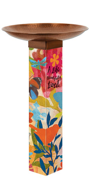 Studio-M Sentimental Journey Bird Bath Art Pole