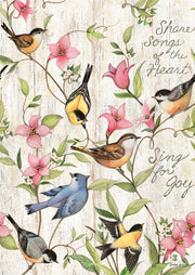 Studio-M Sing for Joy Bird Bath Art Pole