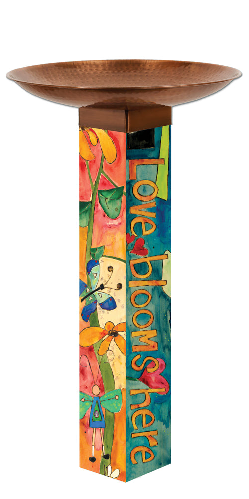 Studio-M Love Garden Bird Bath Art Pole