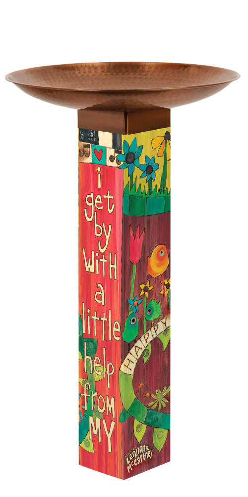 Studio-M I Get By Bird Bath Art Pole, The Lyric Project