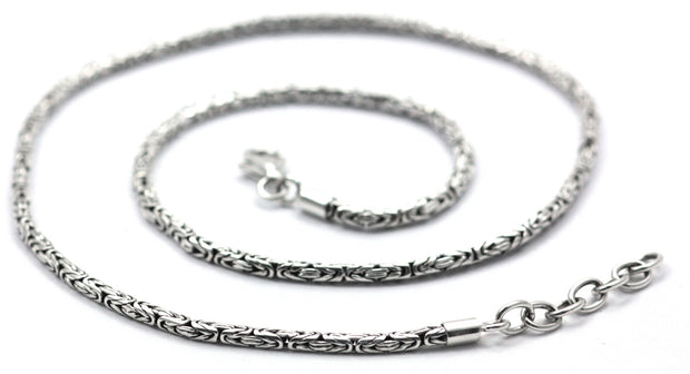 BORO BUDUR Sterling Silver Byzantine Necklace
