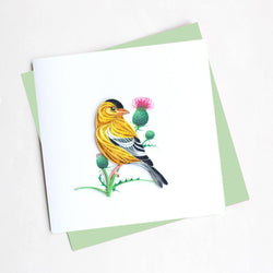 Eastern Goldfinch Quilling Card