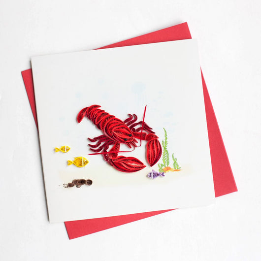 Lobster Quilling Card