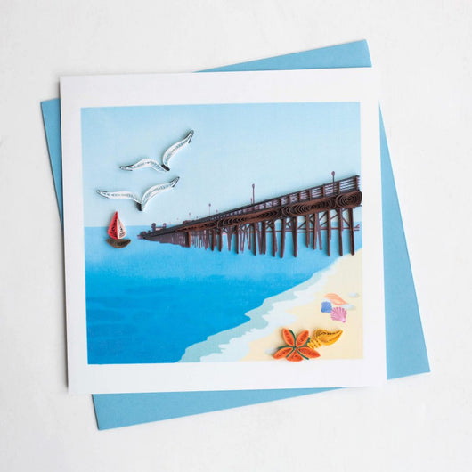 Pier Quilling Card
