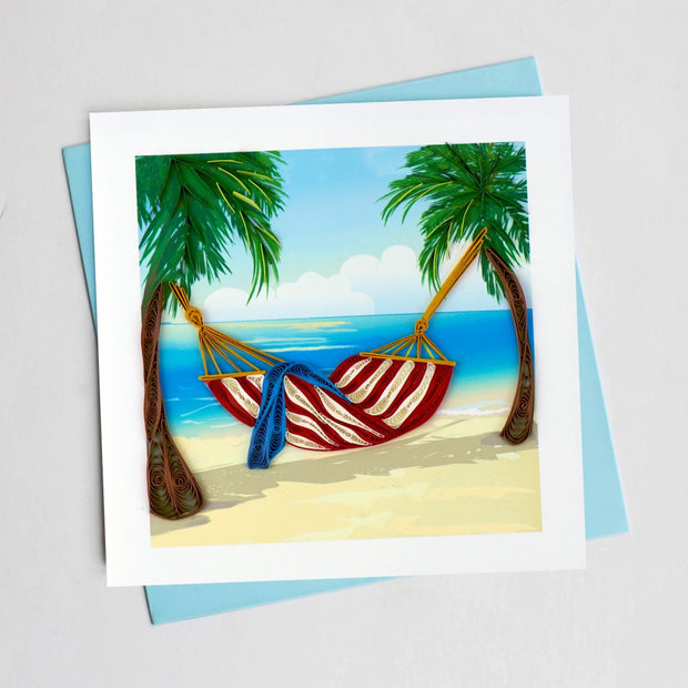 Tropical Beach Quilling Card