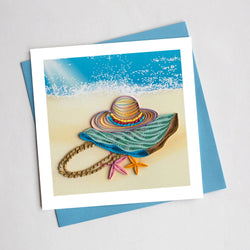 Beach Time Quilling Card