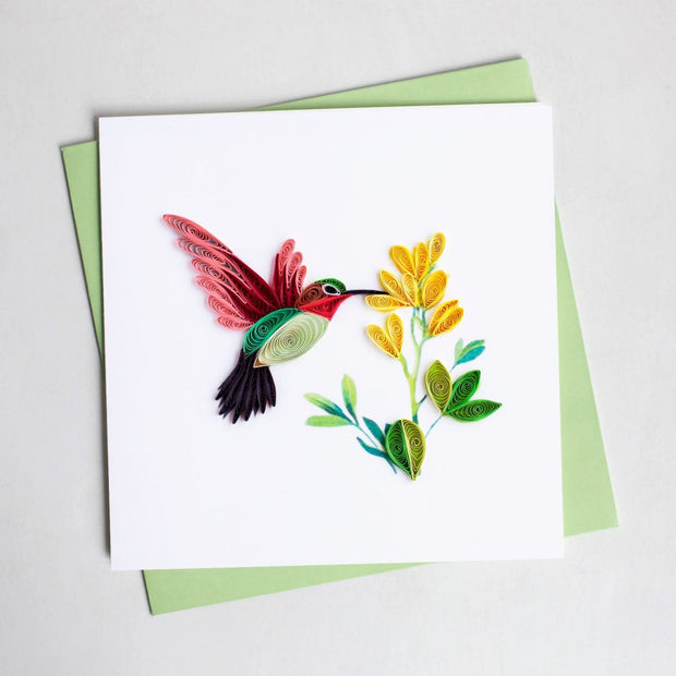 Humming Bird Quilling Card