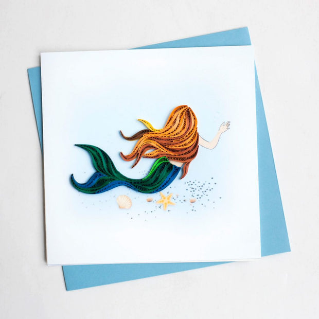 Mermaid Quilling Card