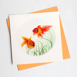 Goldfish Quilling Card