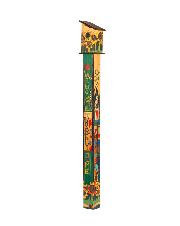 Studio-M Sing Out Loud Birdhouse Art Pole