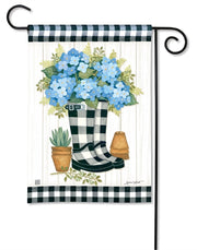 Studio-M Black & White Wellies Garden Flag