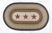 "Capitol Earth Rugs Barn Stars Oval Patch Rug, 27"" x 45"""