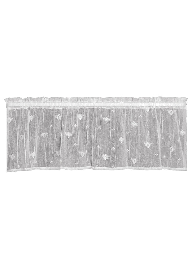 Heritage Lace Bee Valance - White
