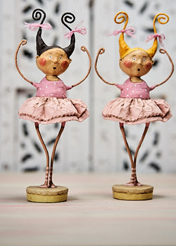 Bella Ballerinas, Blonde and Brunette by Lori Mitchell