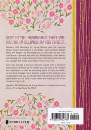 Beloved: 365 Devotions for Young Women, Back Cover