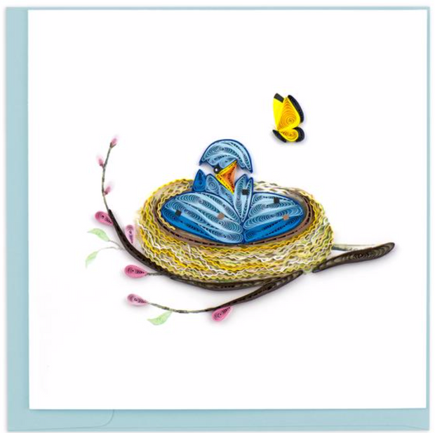 Bird Nest Quilling Card