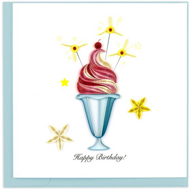 Birthday Sundae Quilling Card