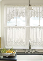 Heritage Lace Blossom Curtain Collection - White