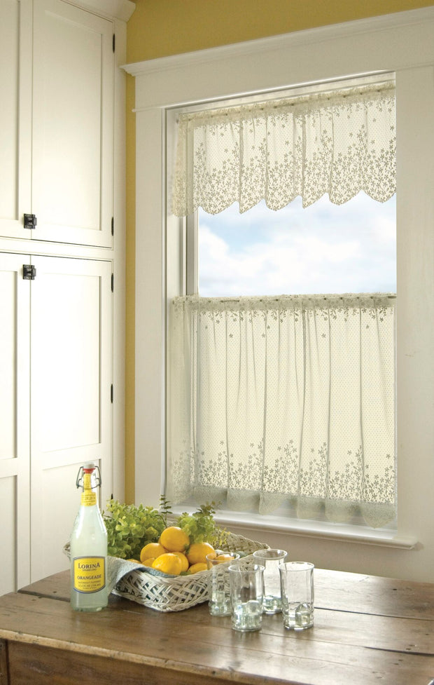 Heritage Lace Blossom Curtain Collection - Ecru