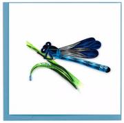 Blue Damselfly Quilling Card
