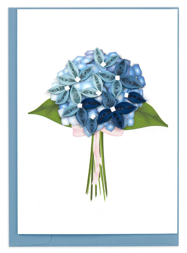 Blue Hydrangea Quilling Card Gift Enclosure