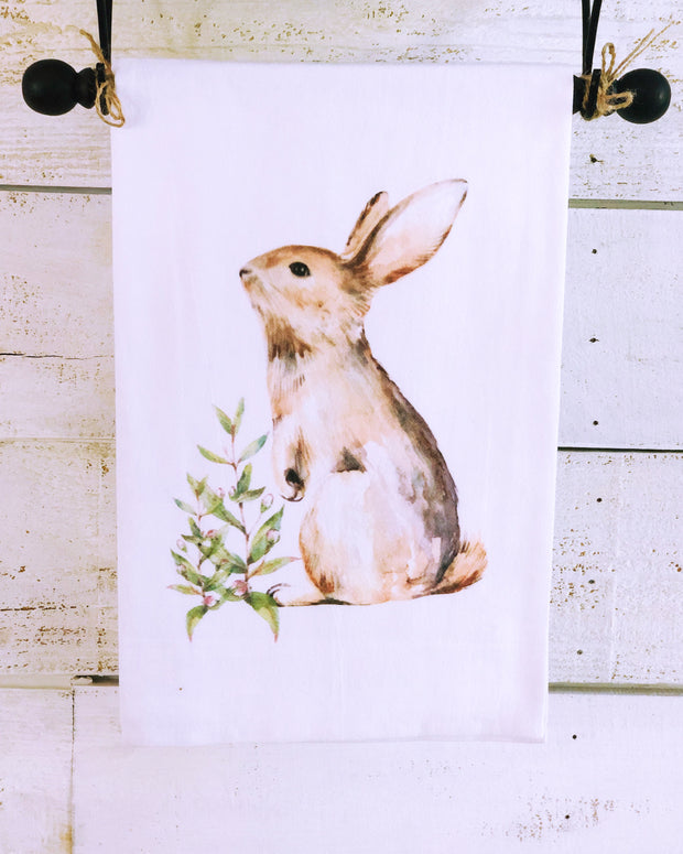 Southern Sisters Brown Rabbit Gourmet Flour Sack Tea Towel