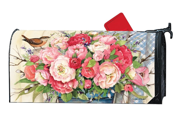Studio-M Bucket Full of Peonies Mailbox Wrap