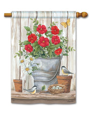 Studio-M Bucket of Blooms Standard Flag