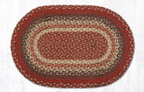 "Capitol Earth Rugs Burgundy Traditional Braided Rug, 20"" x 30"""