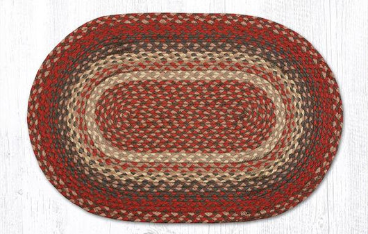 Capitol Earth Rugs Burgundy Traditional Braided Rug, 20