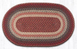 "Capitol Earth Rugs Burgundy Traditional Braided Rug, 27"" x 45"""