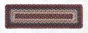 "Capitol Earth Rugs Braided Jute Stair Tread, 8.5"" x 27"" Rectangle, Burgundy"