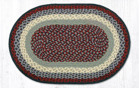 Capitol Earth Rugs Blue/Burgundy Traditional Braided Jute Rug