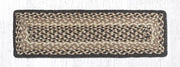 "Capitol Earth Rugs Braided Jute Stair Tread, 8.5"" x 27"" Rectangle, Chocolate/Natural"