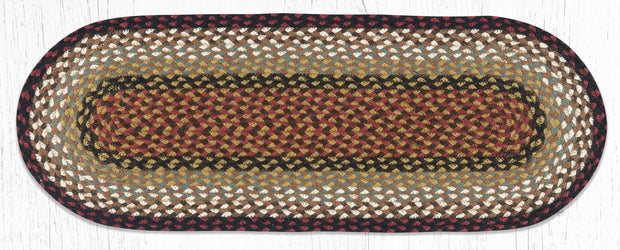 "*Braided Jute Table Runner, 13"" x 36"" Oval"