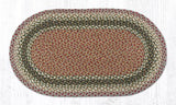 Olive/Burgundy/Grey Traditional Braided Rugs - Oval, Rectangle, or Round