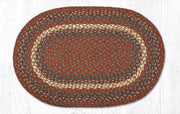 "Capitol Earth Rugs Burgundy/Grey Traditional Braided Rug, 20"" x 30"