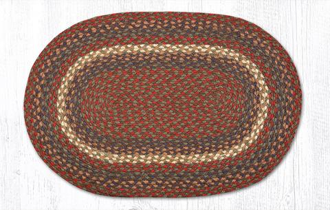 Capitol Earth Rugs Burgundy/Grey Traditional Braided Rug, 20