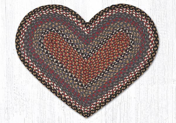 Traditional Braided Heart-Shaped Rugs