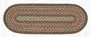 "Capitol Earth Rugs Braided Jute Table Runner, 13"" x 36"", Color: Fir/Ivory"