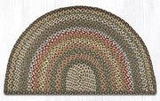 "Capitol Earth Rugs Braided Jute Slice Rug, 24"" x 39"", Fir/Ivory"